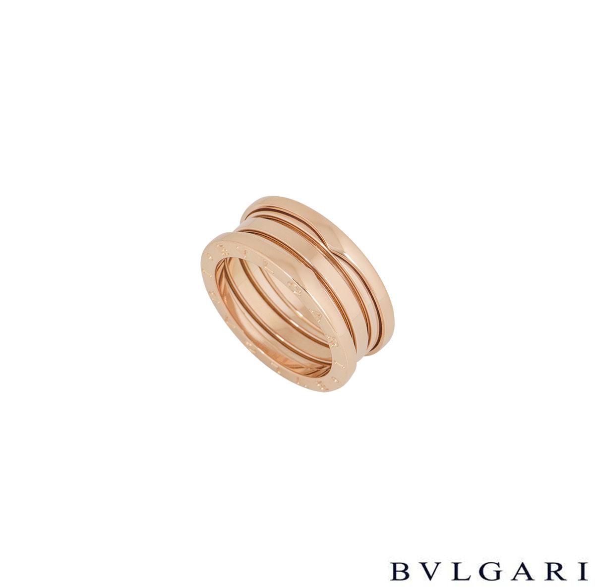 Bvlgari Rose Gold B.Zero1 Ring 335939